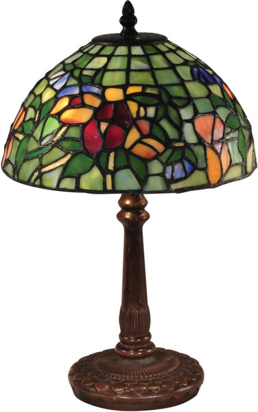 Pansy Tiffany Accent Lamp Antique Bronze