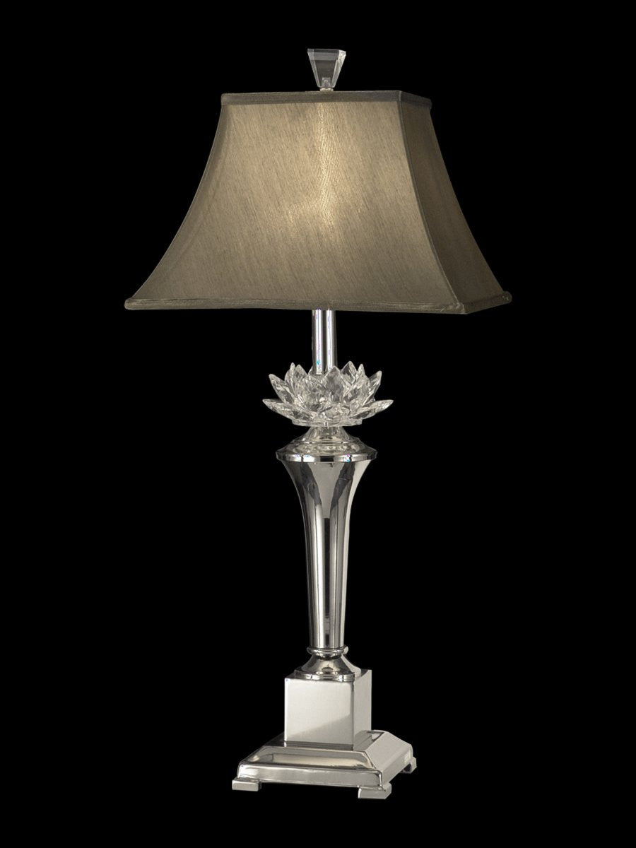 Paseo 1-Light Crystal Table Lamp Polished Nickel