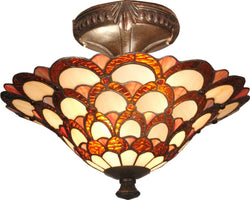 Peacock 2-Light Flush Mount Fieldstone