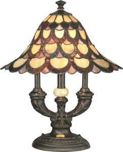 Peacock 2-Light Table Lamp Antique Bronze
