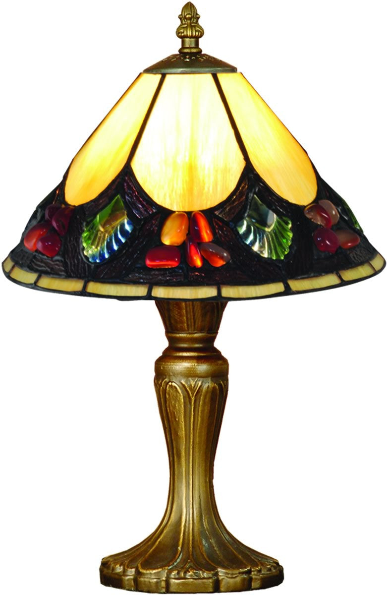 Save on Dale Tiffany Pebble Stone Tiffany Accent Lamp Antique ...