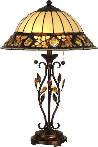 Dale Tiffany Pebblestone Table Lamp Antique Golden Sand TT90172