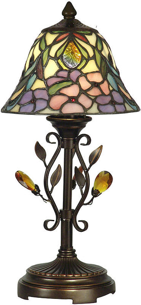 Dale Tiffany Crystal Peony Accent Lamp Antique Golden Sand TA90215