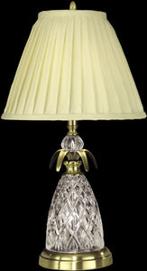 Dale Tiffany 2-Light 3-Way Glass Table Lamp with Nite Light Antique Brass GT10360