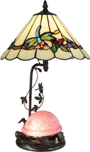 Dale Tiffany Pink Turtle 2-Light Table Lamp Antique Bronze Paint TT13002