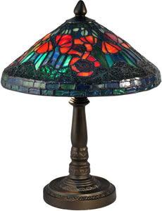 Poppy Tiffany Accent Lamp Antique Bronze