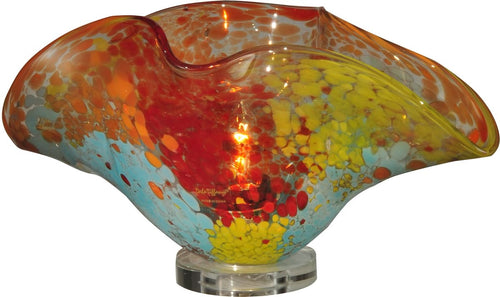 Dale Tiffany Red Sea Favrile 1-Light Accent Lamp Clear AA13053