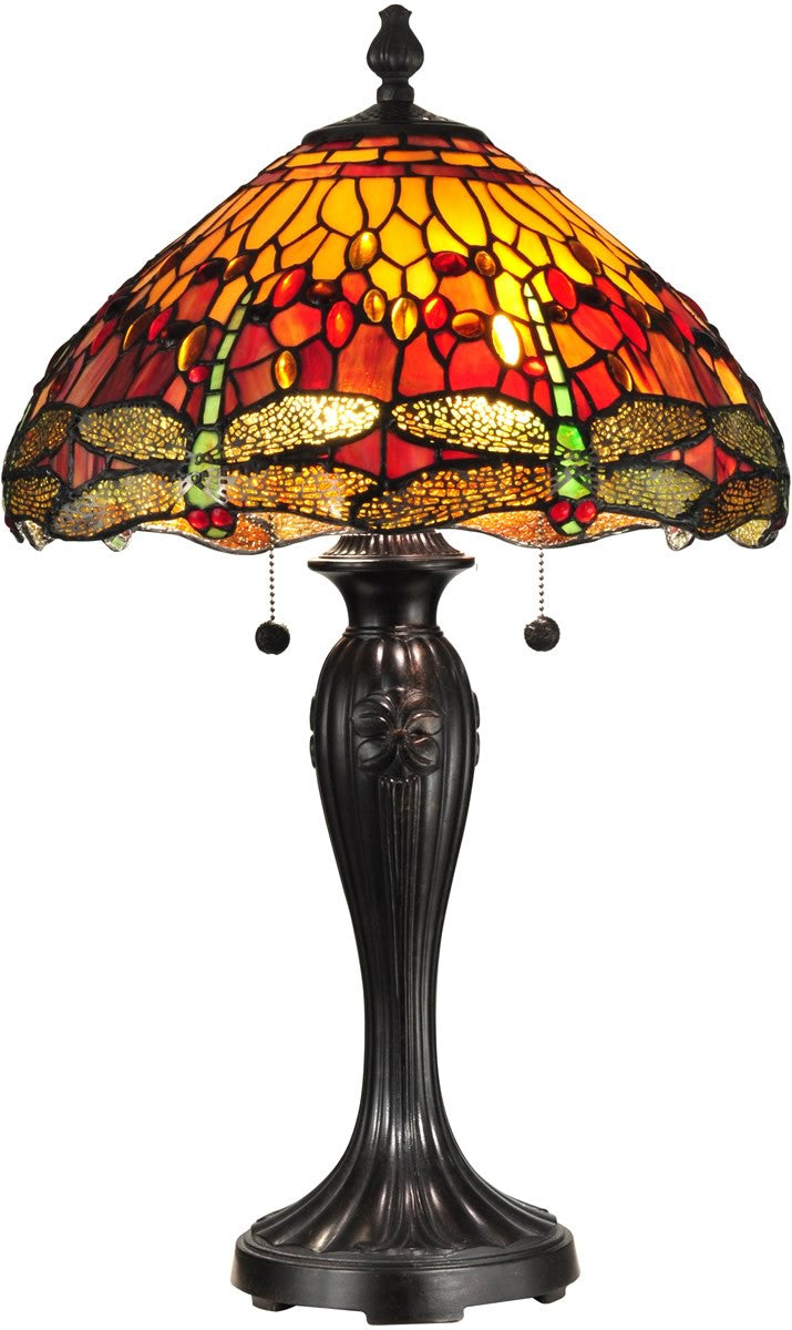 "27""h Reves Dragonfly 2-Light Table Lamp Fieldstone"