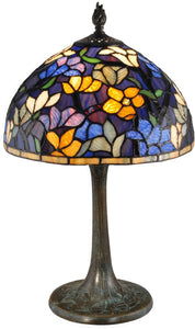 Ridge Tiffany Table Lamp Antique Bronze