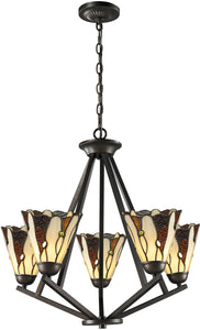 Dale Tiffany Ripley 5-Light Pendant Copper Bronze TH12434
