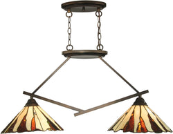 "36""w Ripley 2-Light Pendant Copper Bronze"