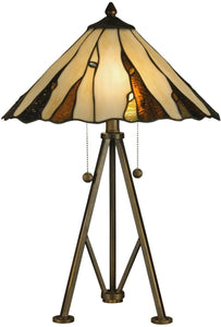 Dale Tiffany Ripley 2-Light Table Lamp Copper Bronze TT12436