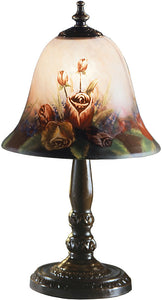 Dale Tiffany Rose Bell Accent Lamp Antique Bronze 10056604