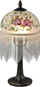 Dale Tiffany Rose Glass Accent Lamp Antique Bronze TA15006