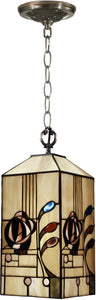 Dale Tiffany 1-Light Tiffany Mini Pendant Antique Brass TH11006