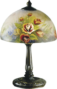 "16""h Rose Dome Table Lamp Antique Bronze"