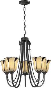 Dale Tiffany San Antonio 5-Light Pendant Dark Bronze TH12429