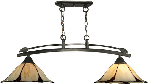 Dale Tiffany San Antonio 2-Light Pendant Dark Bronze TH12430