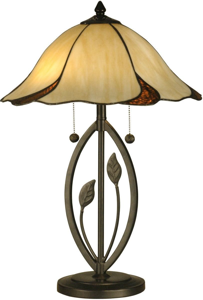 "24""h San Antonio 2-Light Table Lamp Dark Bronze"