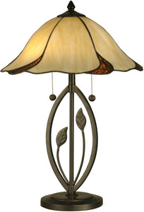 Dale Tiffany San Antonio 2-Light Table Lamp Dark Bronze TT12431