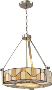 Dale Tiffany Sandfield 3-Light Pendant Satin Nickel TH12420