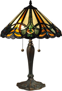 Dale Tiffany Sawyer Tiffany Table Lamp Antique Bronze TT15083
