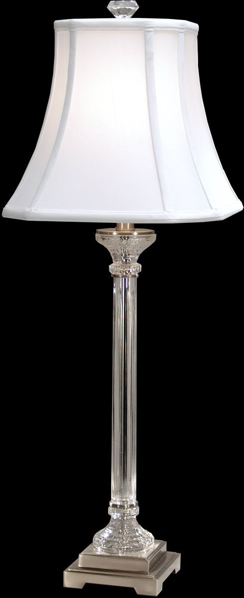 Scala crystal table lamp polished chrome