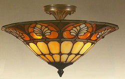 Dale Tiffany Amber Tiffany Flushmount TM100598