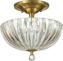 Sereno 3-Light Flush Mount Polished Brass