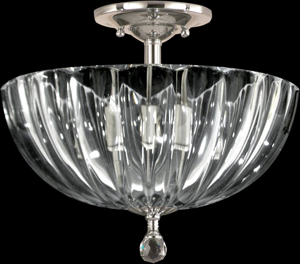 "12""W Sereno Crystal Semi Flush Polished Chrome"