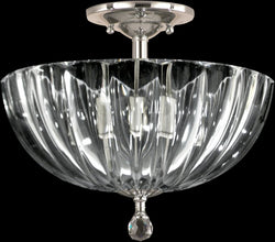 Sereno Crystal Semi Flush Antique Bronze