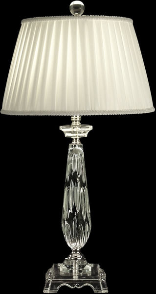Dale Tiffany 1-Light 3-Way Glass Table Lamp Polished Chrome GT10010