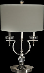 Sheridan Crystal Table Lamp Polished Nickel