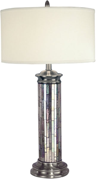 Dale Tiffany 1-Light Tiffany Table Lamp Antique Pewter PG10538