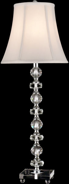 Dale Tiffany 1-Light Glass Table Lamp Chrome GB11065