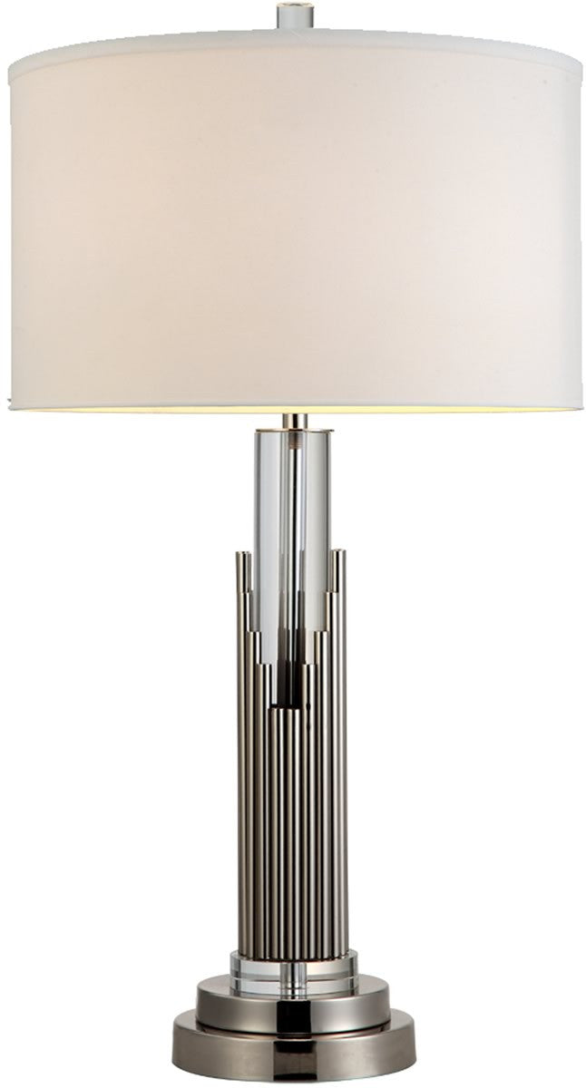 "27""H Sterling 1-Light Table Lamp Satin Nickel"
