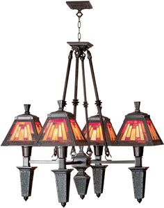 Dale Tiffany 4-Light Tiffany Hanging Fixture Mica Bronze 60604LTB