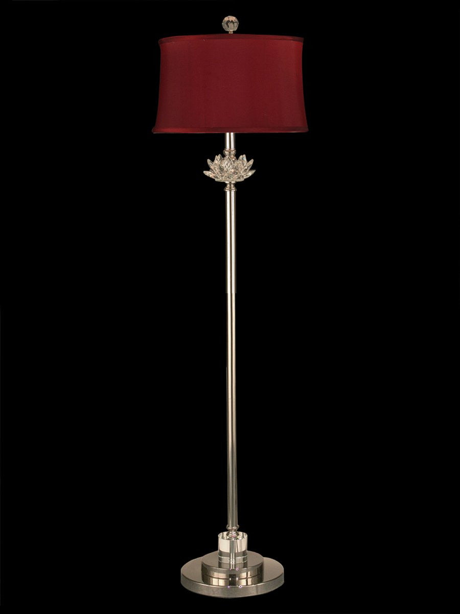 "60""H Susannah 1-Light Floor Lamp Polished Nickel"