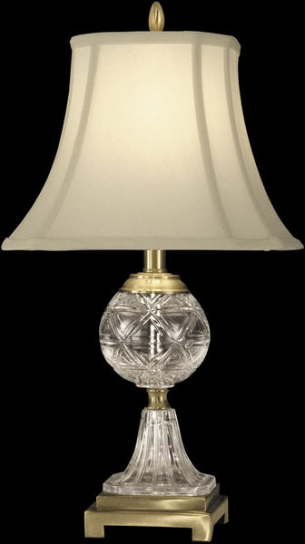 Dale Tiffany 1-Light 3-Way Glass Table Lamp Antique Brass GT10370