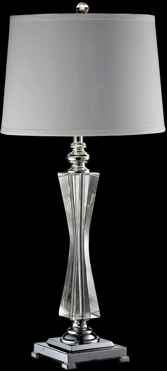 "26""H Sweetwater Crystal Table Lamp Polished Chrome"