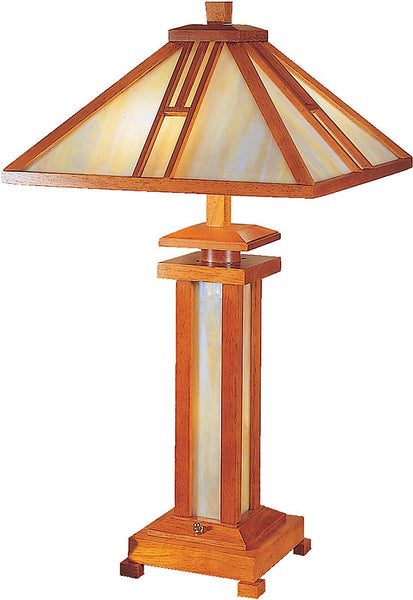 "26""h Wood Mission Table Lamp Oak"