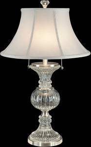 "Granada 27""H Crystal Table Lamp Brushed Nickel"
