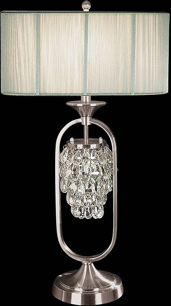 Dale Tiffany Delaney Table Lamp Brushed Nickel GT701058