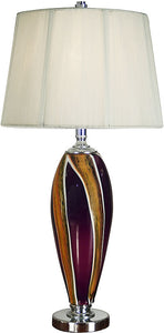 Dale Tiffany Melrose Table Lamp Chrome GT701183