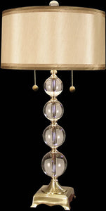 "32""h Aurora Crystal Lamp Antique Brass"
