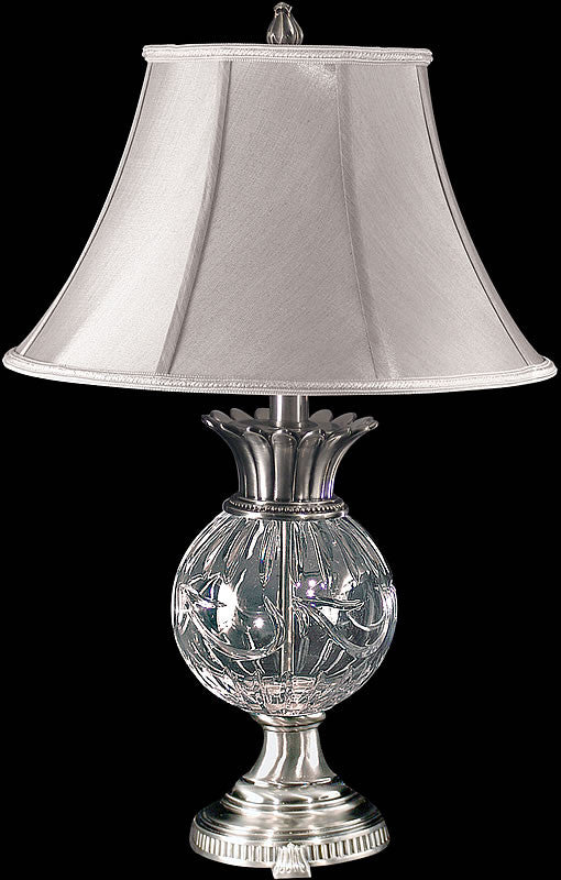 "29""h Adriana Crystal Table Lamp Antique Pewter"