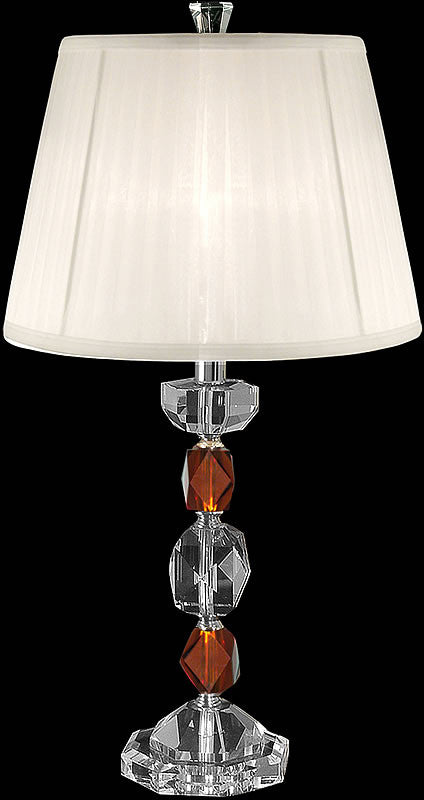 "27""H Crystal Table Lamp Brushed Nickel"
