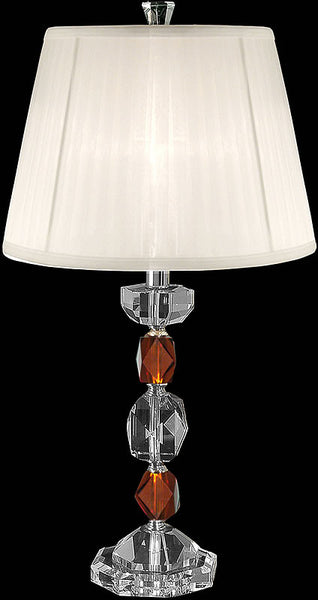 Dale Tiffany Crystal Table Lamp Brushed Nickel GT80240