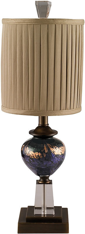 "24""h Mardi Gras Table Lamp Antique Bronze"