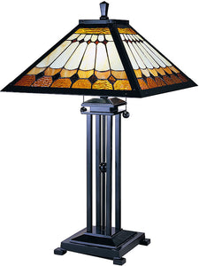 Dale Tiffany Mission Tiffany Table Lamp Mica Bronze TT100131